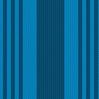 シームレスな青いニットの背景。
