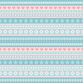 Seamless blue and pink tribal pattern