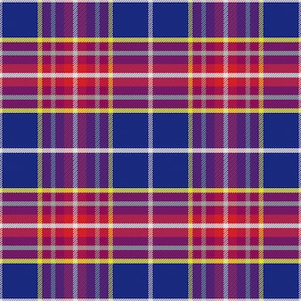 Seamless blue and red scottish tartan