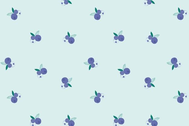 원활한 블루 베리 패턴 파스텔 배경