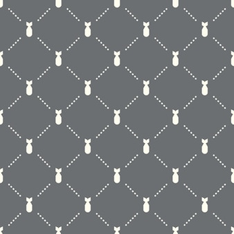 Seamless bomb pattern on a dark background. bomb icon creative design. can be used for wallpaper, web page background, textile, print ui/ux