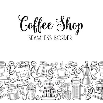 Seamless border coffee