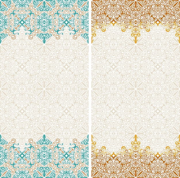 Seamless border eastern pattern