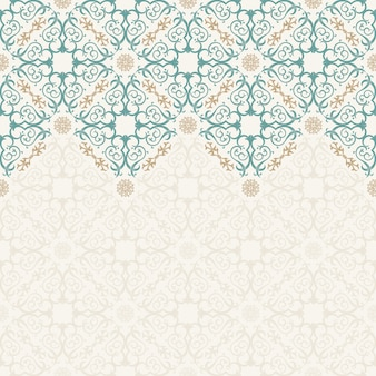 Seamless border ornate in eastern style
