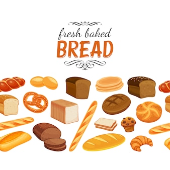 Бесшовные границы с хлебом