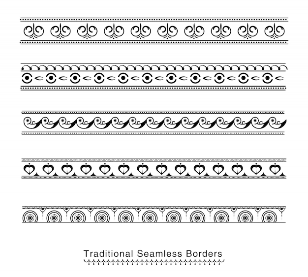 Seamless borders design