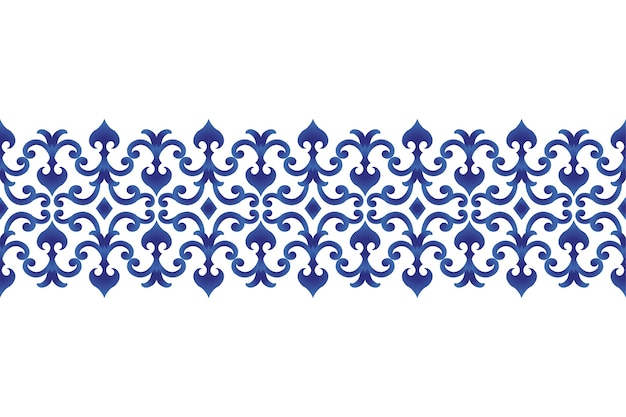 Seamless borders ornament japan and chinese style