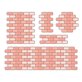 Бесшовные кирпичной стены фон, векторные иллюстрации eps10.