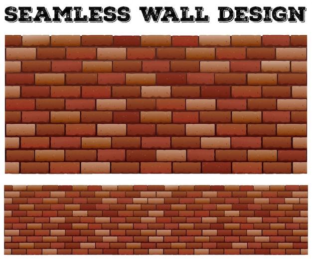 シームレスなレンガの壁のデザイン