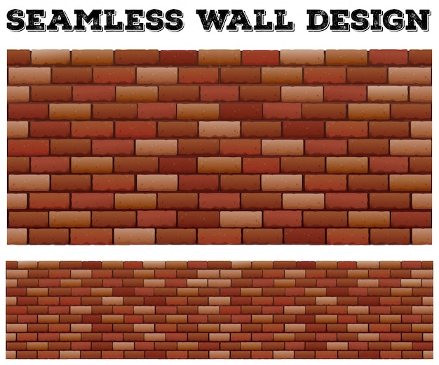 Seamless brick wall design