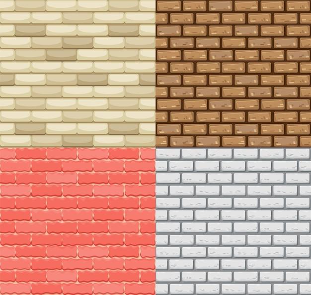 원활한 벽돌 벽 일러스트 디자인