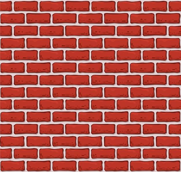 원활한 벽돌 벽 패턴입니다. 현실적인 벽돌 텍스처입니다.