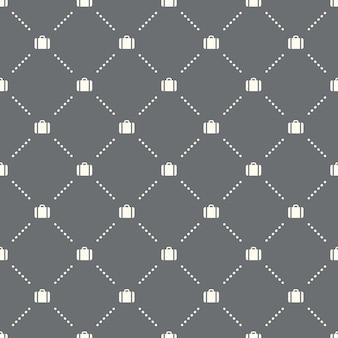 어두운 배경에 원활한 서류 가방 패턴입니다. 서류 가방 아이콘 크리에이 티브 디자인입니다. 벽지, 웹 페이지 배경, 섬유, 인쇄 ui/ux에 사용할 수 있습니다.