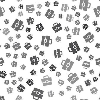흰색 바탕에 원활한 서류 가방 패턴입니다. 간단한 서류 가방 아이콘 크리에이 티브 디자인입니다. 벽지, 웹 페이지 배경, 섬유, 인쇄 ui/ux에 사용할 수 있습니다.