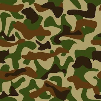 シームレスなカモフラージュパターンの緑と茶色の色