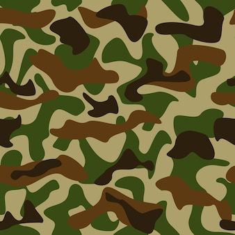Seamless camouflage pattern colori verde e marrone