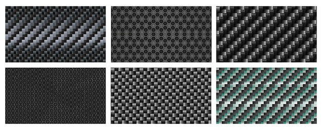 Seamless carbon fiber texture. black metallic fibers pattern, sports carbon weave realistic background.