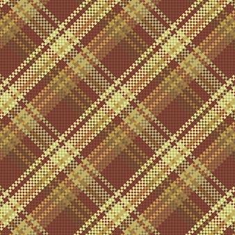원활한 체크 무늬 패턴 배경입니다. 패브릭 질감입니다. 벡터 일러스트 레이 션.