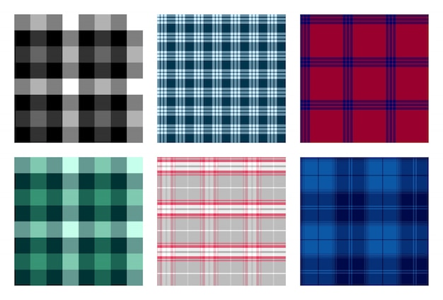 Seamless checkered plaid pattern