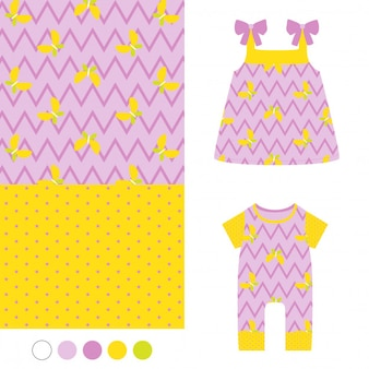 Seamless chevron pattern, girl fashion