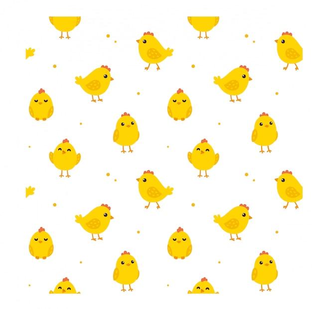 Seamless chicken pattern