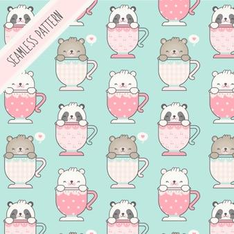 Seamless childish pattern with bears