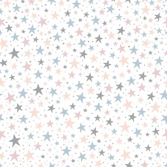 귀여운 별과 원활한 유치 패턴입니다.