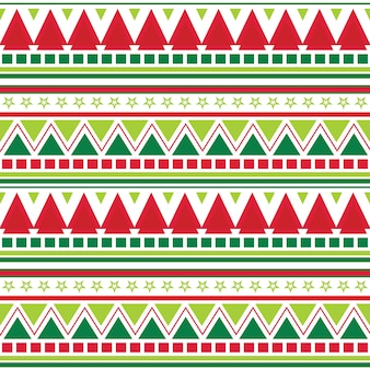 Seamless christmas background with aztec pattern design