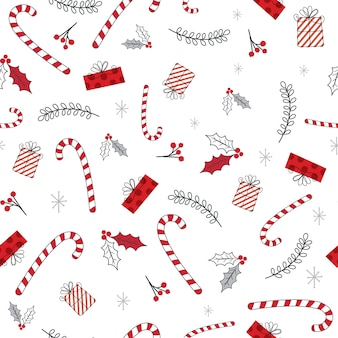 Seamless christmas background with christmas ornament