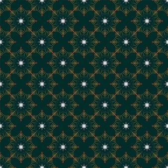 원활한 크리스마스 자연 기하학적 패턴 눈송이 진한 파란색 배경 새해 패브릭 소재