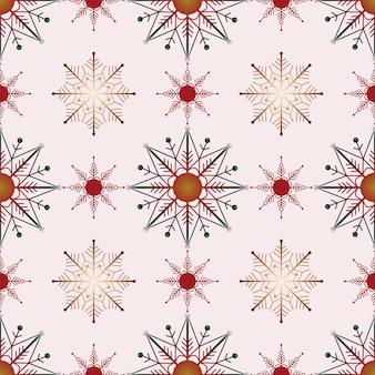 원활한 크리스마스 자연 패턴 눈송이 흰색 배경 새해 패브릭 소재 포장