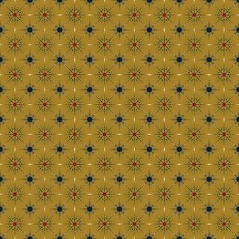 원활한 크리스마스 자연 패턴 눈송이 노란색 배경 새해 패브릭 소재 포장