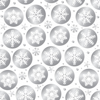 Seamless christmas pattern background with confetti silver snowflake