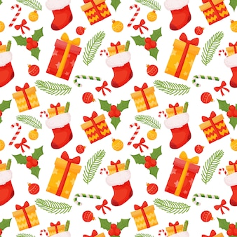 Seamless christmas pattern.  illustration on a white background.