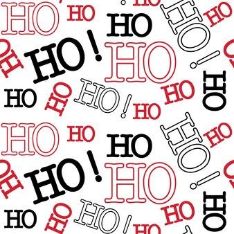 Ho hohoデザインのシームレスなクリスマスパターン
