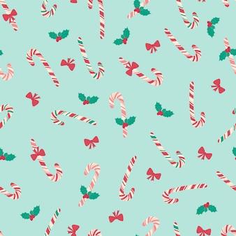 Seamless christmas pattern with mistletoe