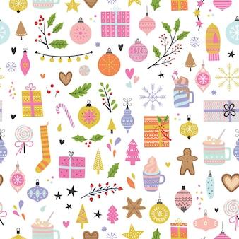 Seamless christmas pattern xmas and winter