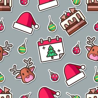 シームレスなクリスマスパターン