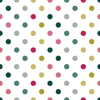 Seamless christmas polka dots with red and green color