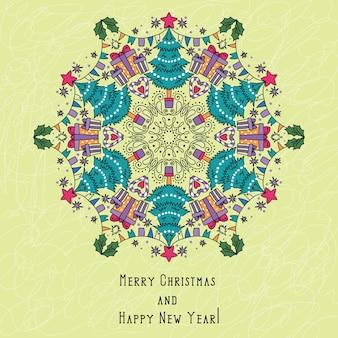 Seamless christmas snowflake. kaleidoscope