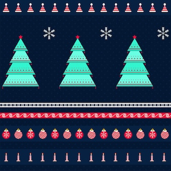 シームレスなクリスマスのテーマパターンの背景。