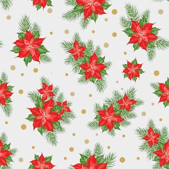 Seamless christmas  with christmas star.
