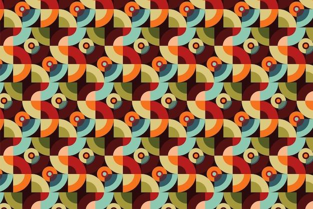 シームレスな円形の幾何学的なグルーヴィーなパターンのテクスチャ