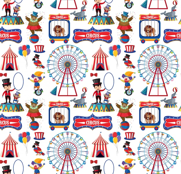 Seamless    circus animals