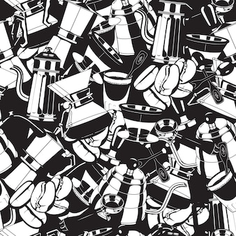 Seamless coffee maker tools  pattern