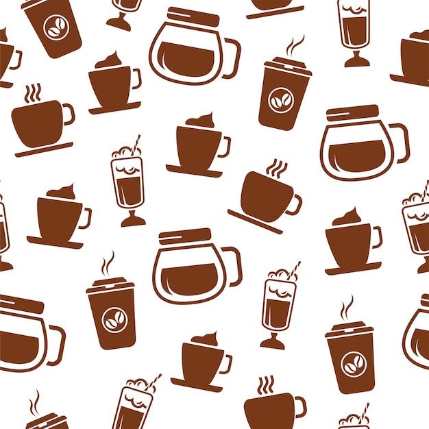 Бесшовный узор для кофе