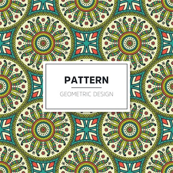 Seamless colored mandala pattern