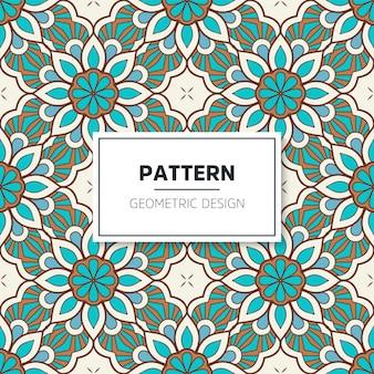 Seamless colored mandala pattern