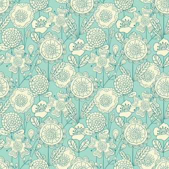 Seamless colorful floral background