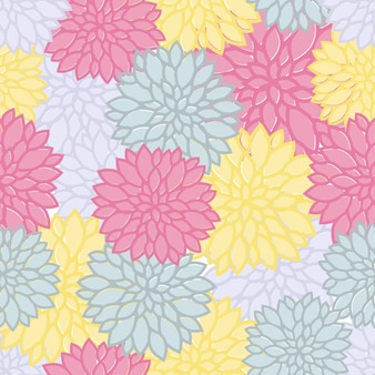 Seamless colorful flower pattern background